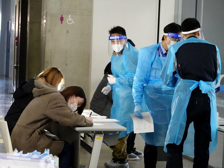 感染症対策を踏まえた冬季避難所訓練・演習を実施しました